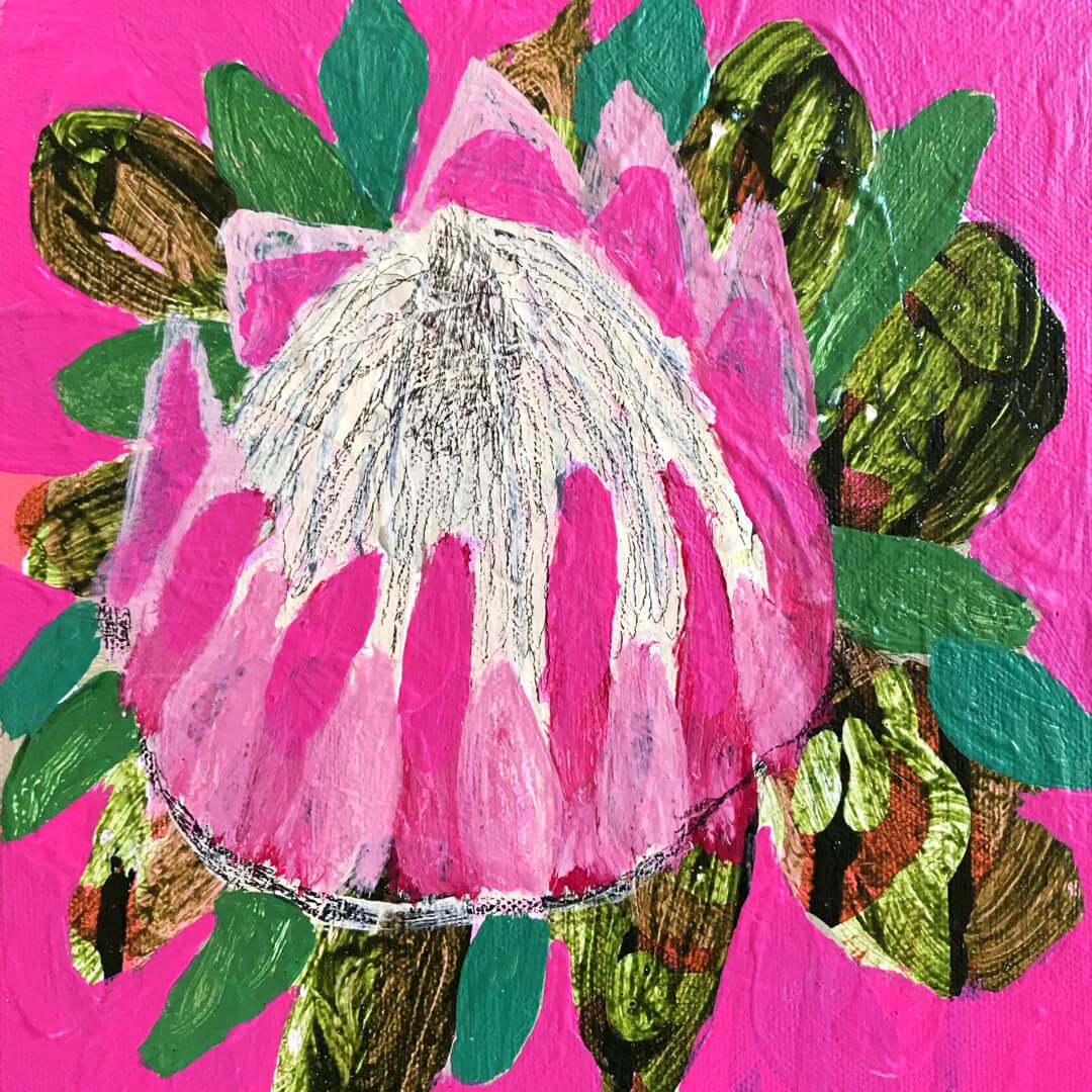 Abundance #12, floral painting by Tracy Algar