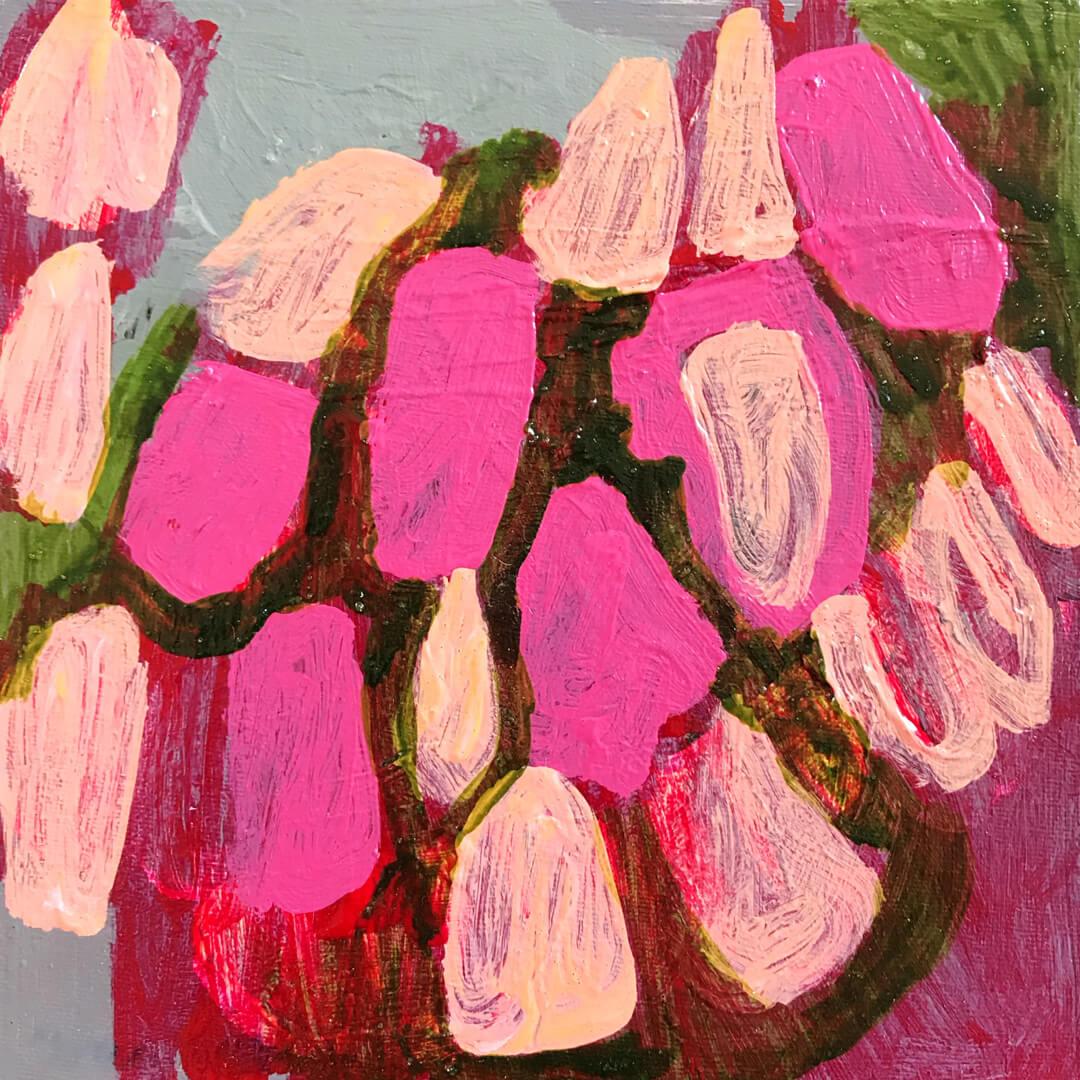 Abundance #10, abstract botanical painting by Tracy Algar