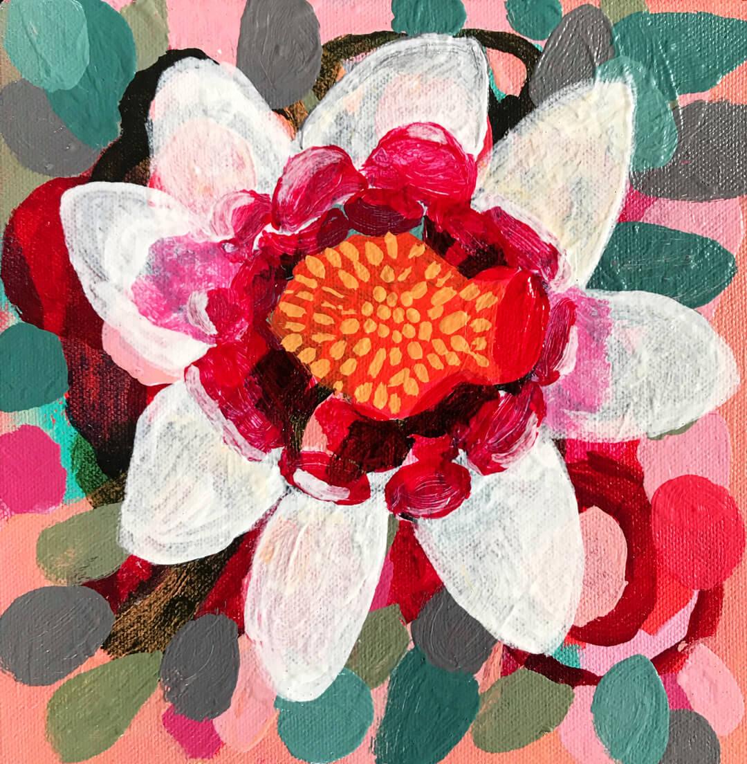 Abundance #19, abstract flower by Tracy Algar
