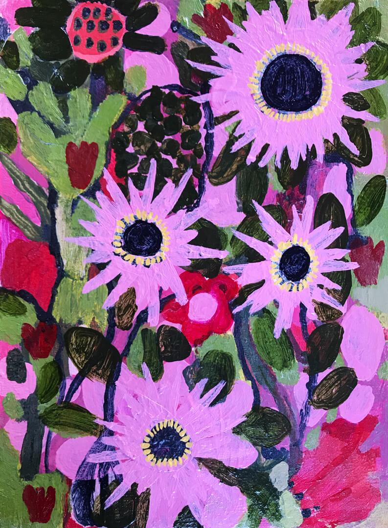 Abundance #20, abstract fynbos artwork by Tracy Algar