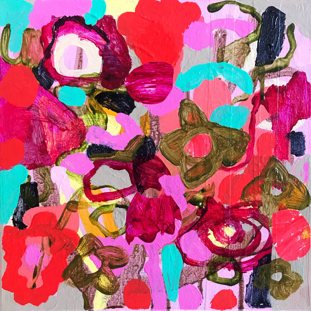 Abundance #5, abstract botanical artworks by Tracy Algar