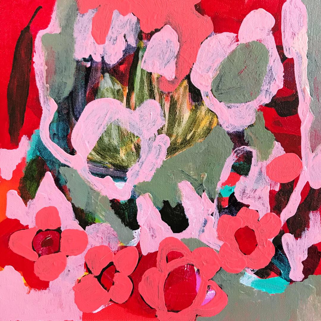 Abundance #9, acrylic abstract painting by Tracy Algar