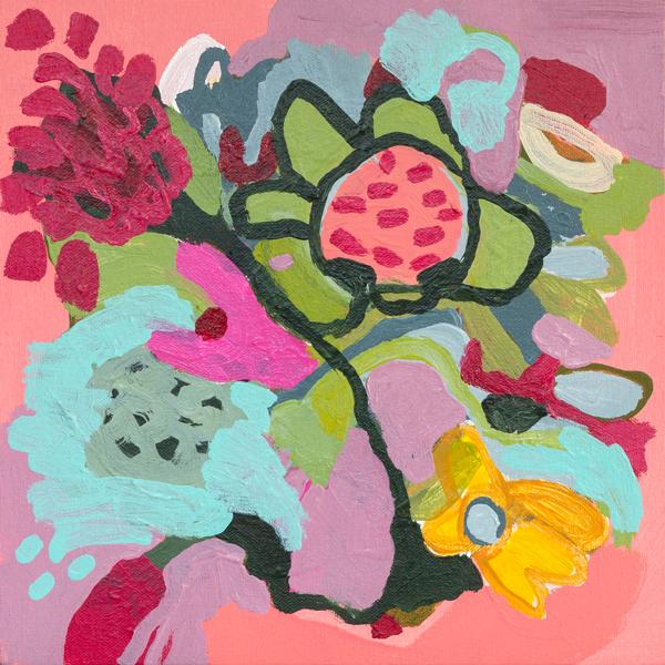 Kabloom! 1, by floral painter Tracy Algar