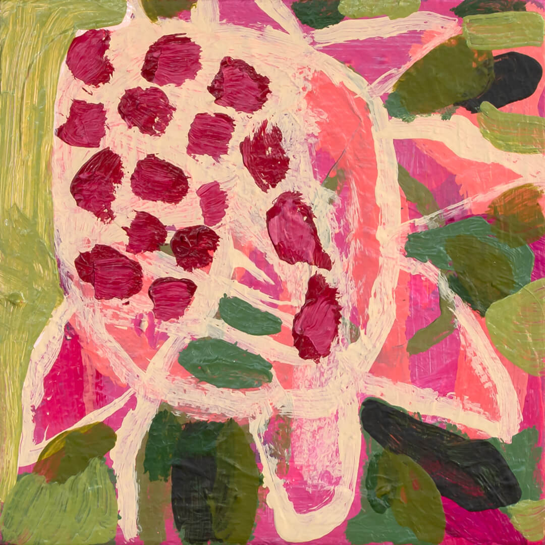 Blom 1, abstract protea painting by Tracy Algar
