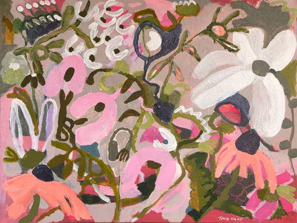 Stop and Smell the Fynbos, abstract fynbos painting by Tracy Algar
