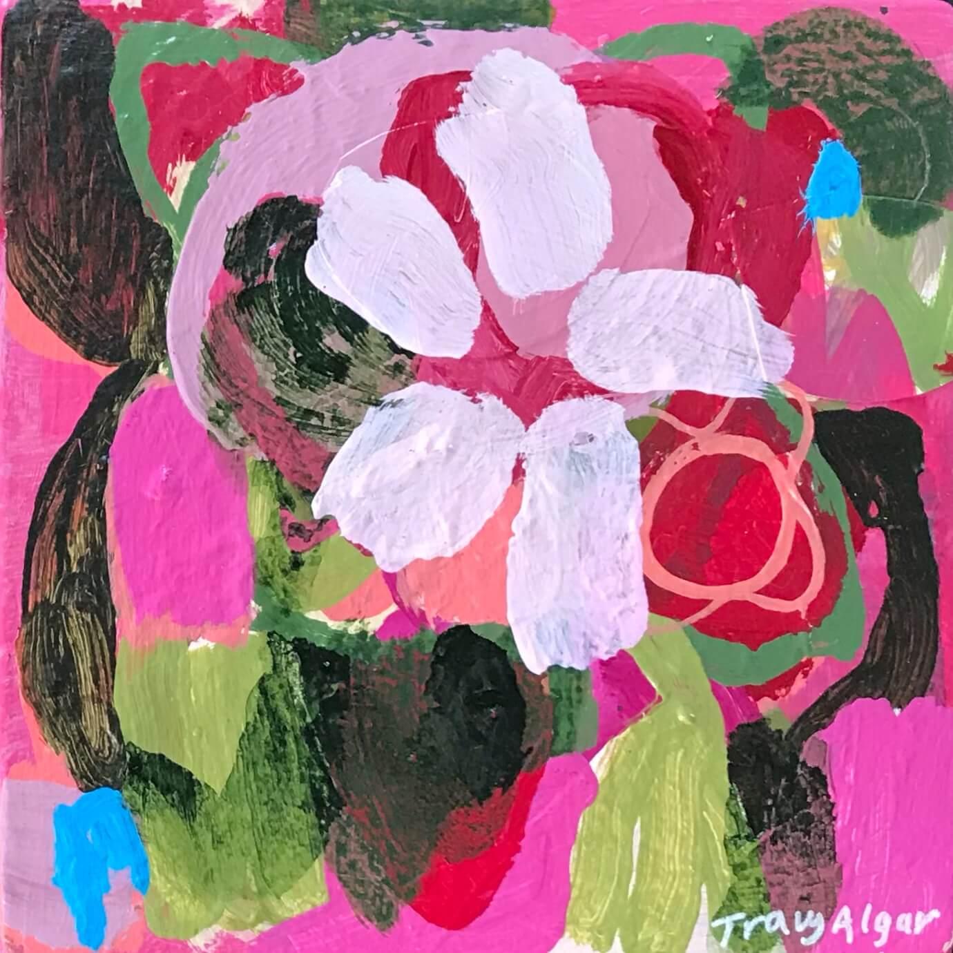 Blom 2, abstract flower artwork by Tracy Algar
