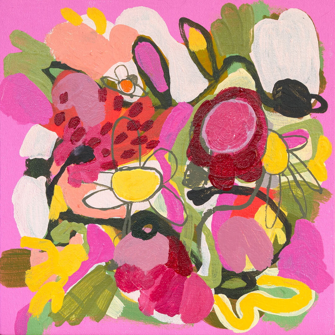He Loves Me 1, by floral abstract artist Tracy Algar