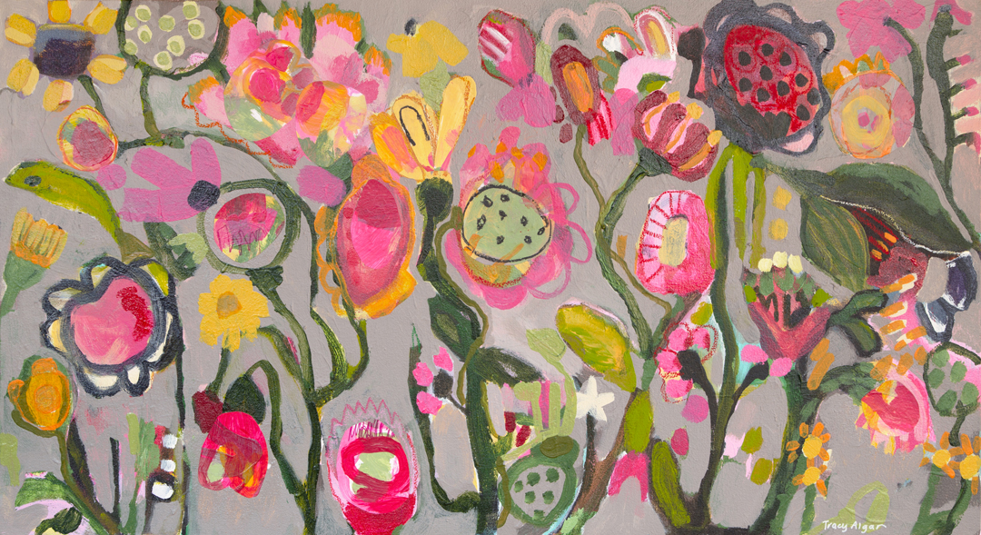 Park Life abstract floral painting